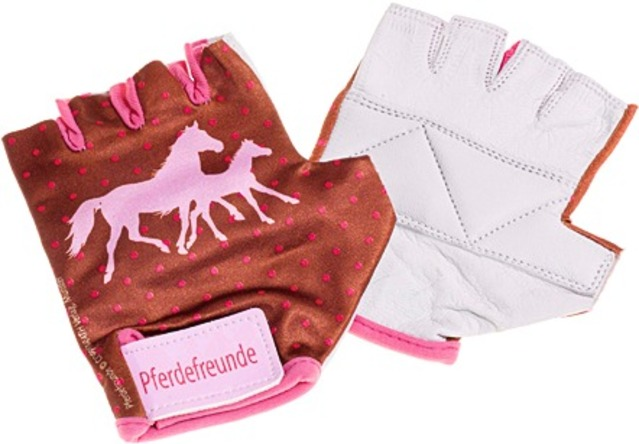 Bike Fashion Kinder Handschoen Paardenvrienden Maat 5 = L