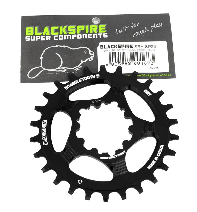Blackspire Kettingblad Snaggletooth NWP 26T Sram DM - Zwart