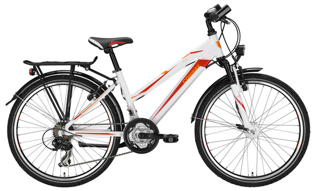 Conway ATB AC 130-270 Meisjes 24 Inch 36cm 21V Wit/Rood