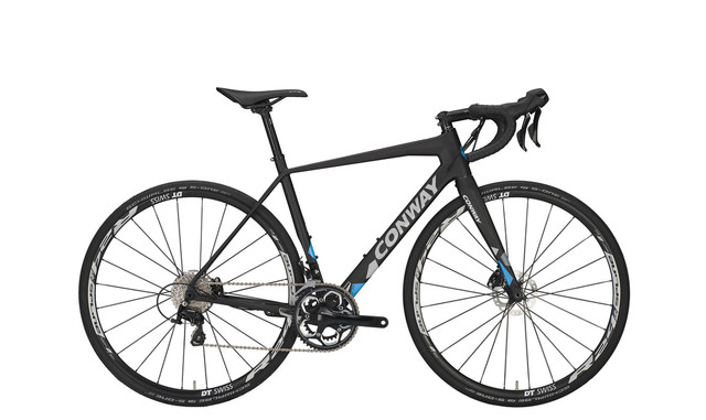 Conway GRV 1000 Carbon Herenfiets 58cm 22V - Carbon/Blauw