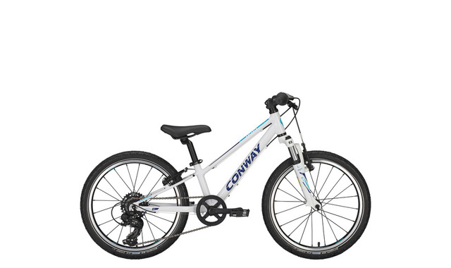 Conway MS 100 Jongensfiets 20 Inch 23cm 7V - Wit/Turquoise
