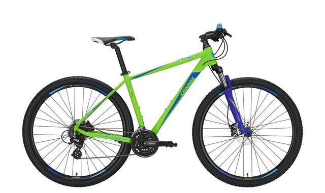 Conway MTB MS 429 29 Inch 52cm 24V - Mat Lime/Blauw