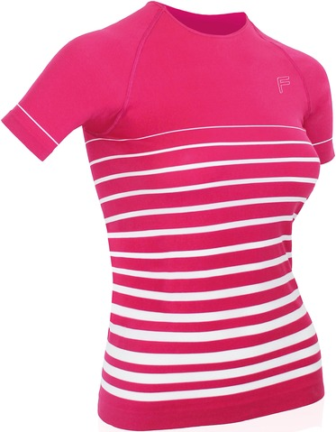 F-Lite Dames T-Shirt Ultralight 70 Roze/Wit - Maat L
