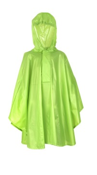 FastRider - Basic Poncho - Kids - Lime - Maat 92 - 104