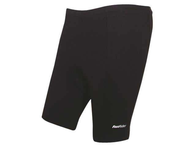 FastRider Fietsbroek Kort Feel Supplex Dames Zwart Maat XS
