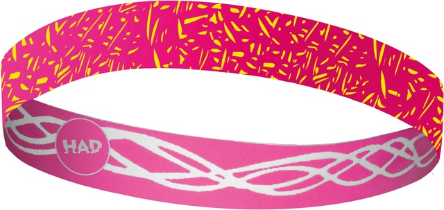 H.A.D. Hoofdband Flexband Roze/Wit- One Size
