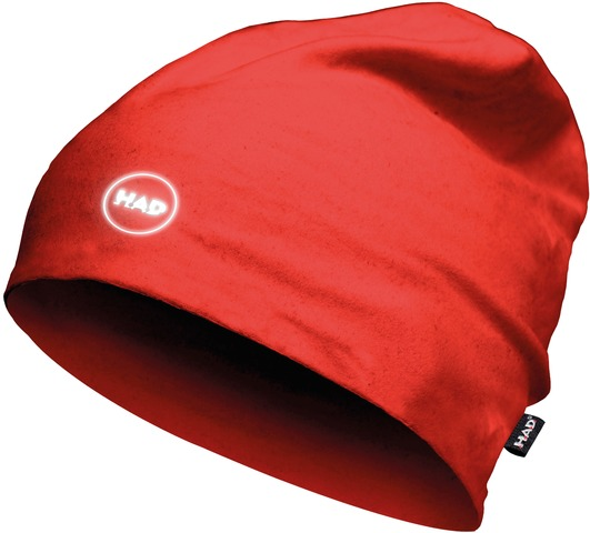 H.A.D. Printed Fleece Beanie Muts - Red Reflective
