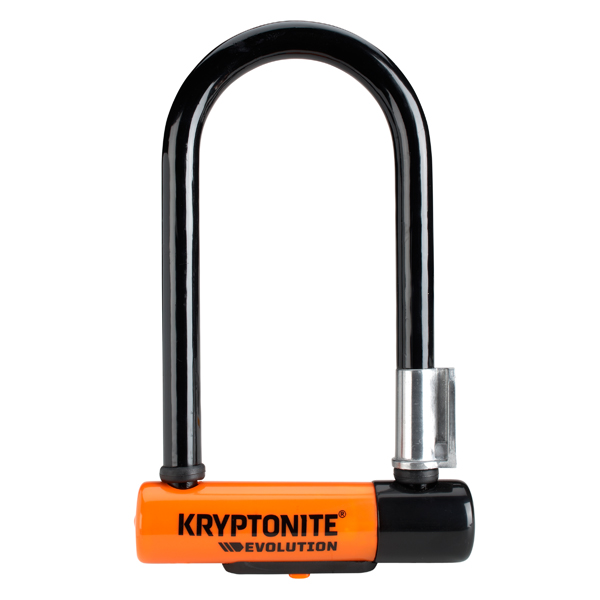 Kryptonite Beugelslot Evolution Mini7 8.3x17.8cm - Zw/Oranje