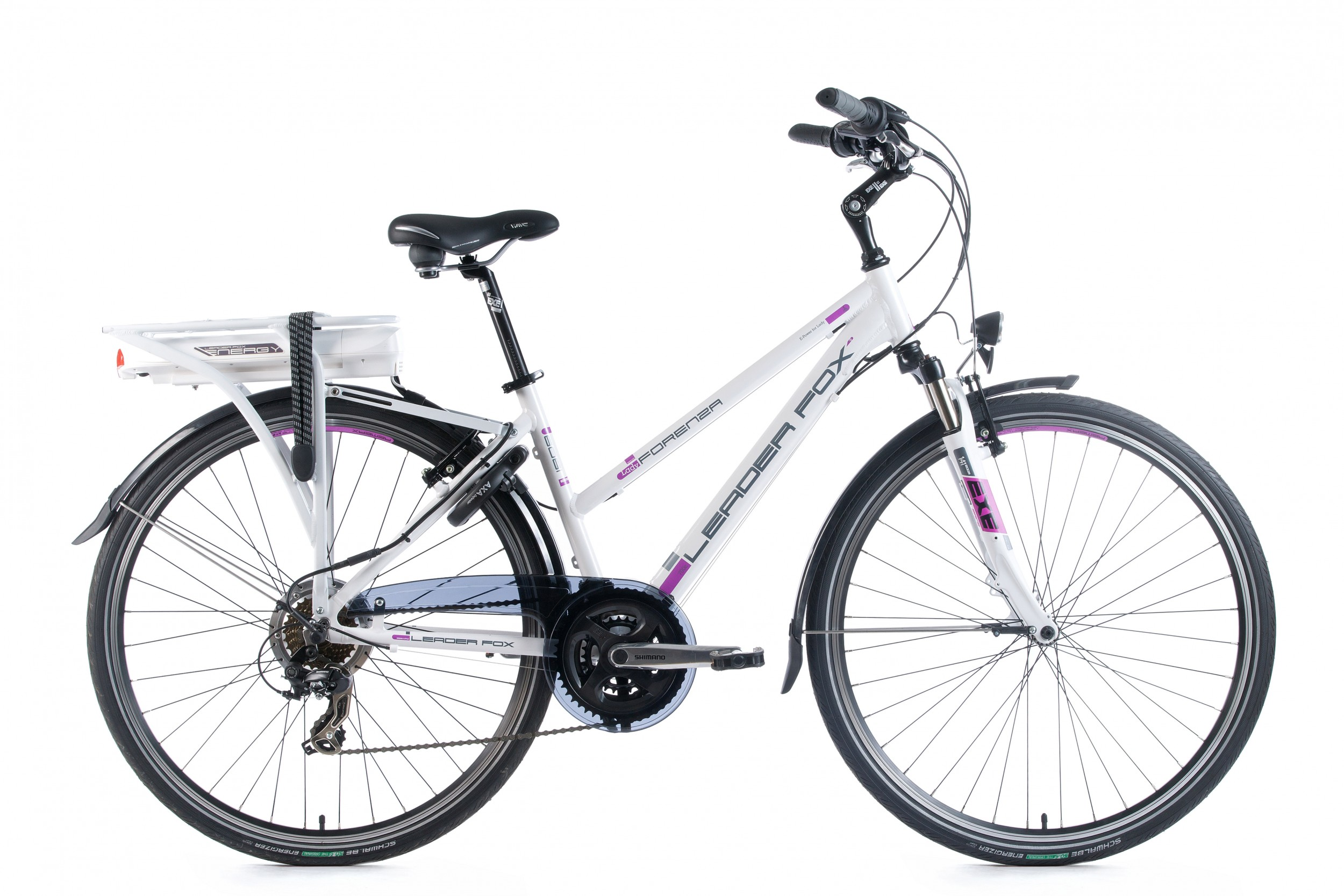 LeaderFox Forenza E-bike Dames 43cm 21V - Wit (13Ah)