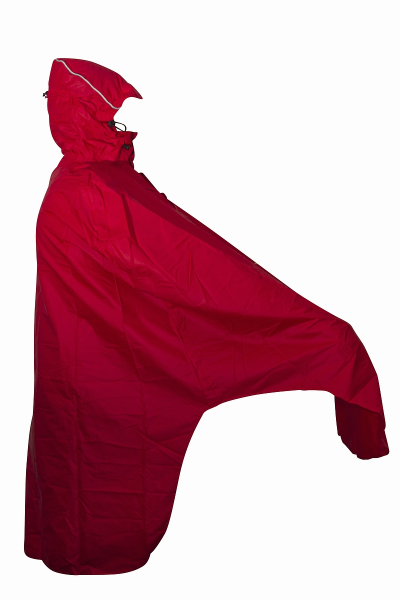 Mac in a Sac Lowland Fiets Poncho Rood - Unisize
