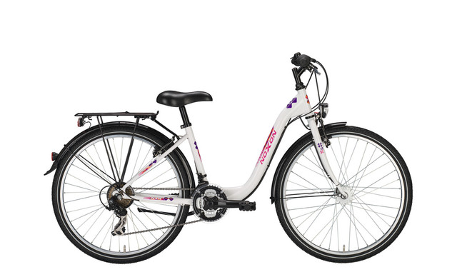 Noxon Girls ND Meisjesfiets 26 Inch 38cm 21V - Wit