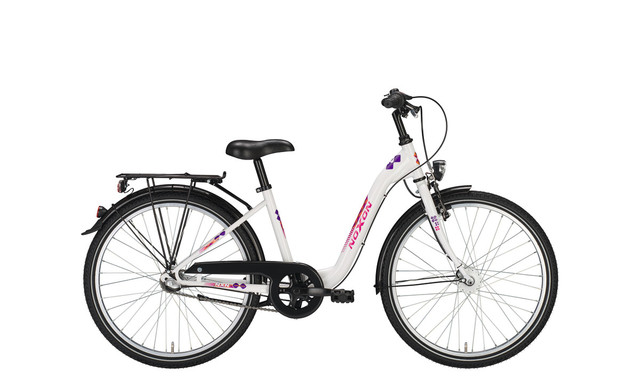 Noxon Girls ND Meisjesfiets 26 Inch 38cm 3V - Wit