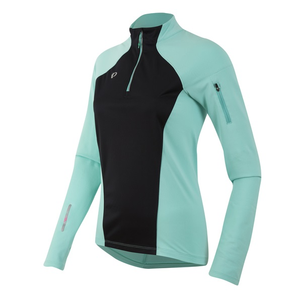 Pearl Izumi Pursuit Wind Thermal Shirt Dames Groen/Zwart-XL