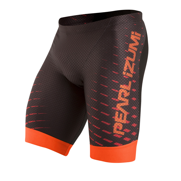 Pearl Izumi Triathlon Broek P.R.O. In-R-Cool Zw/Oranje - XL