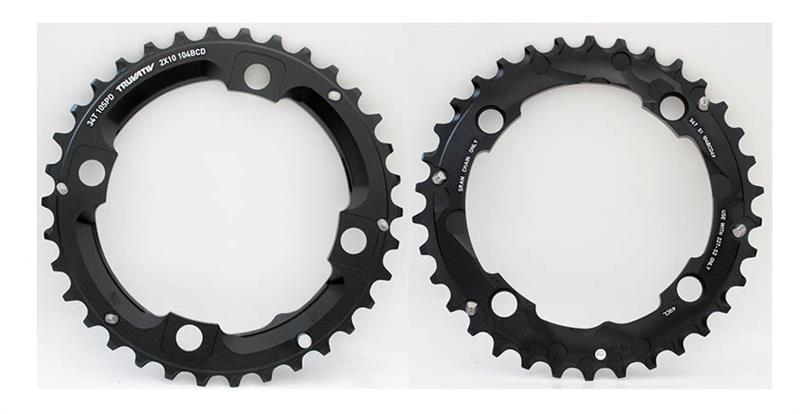 Sram Kettingblad 34T 2 x 10V Steek 104mm LP Alu Zwart