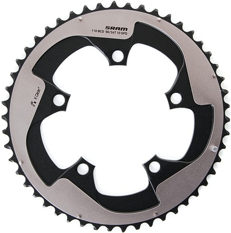 Sram Kettingblad Yaw Race X-Glide 50 Tands Steek 110 Grijs