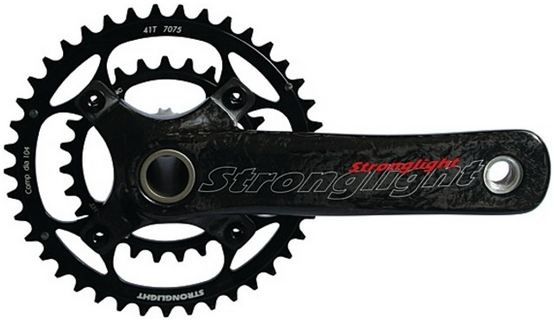 Stronglight Crankstel VisionDouble 26/40 Tands 175mm Zwart