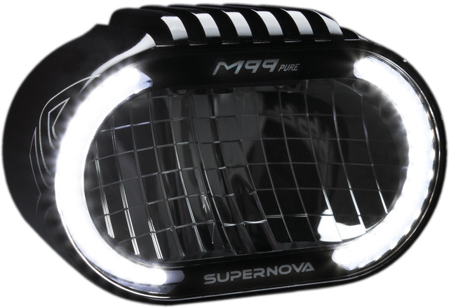 Supernova M99-Pure LED-Koplamp - Zwart