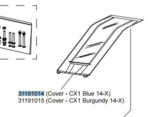 Thule Chariot Cover tbv Chariot CX1 vanaf 2014 - Blauw