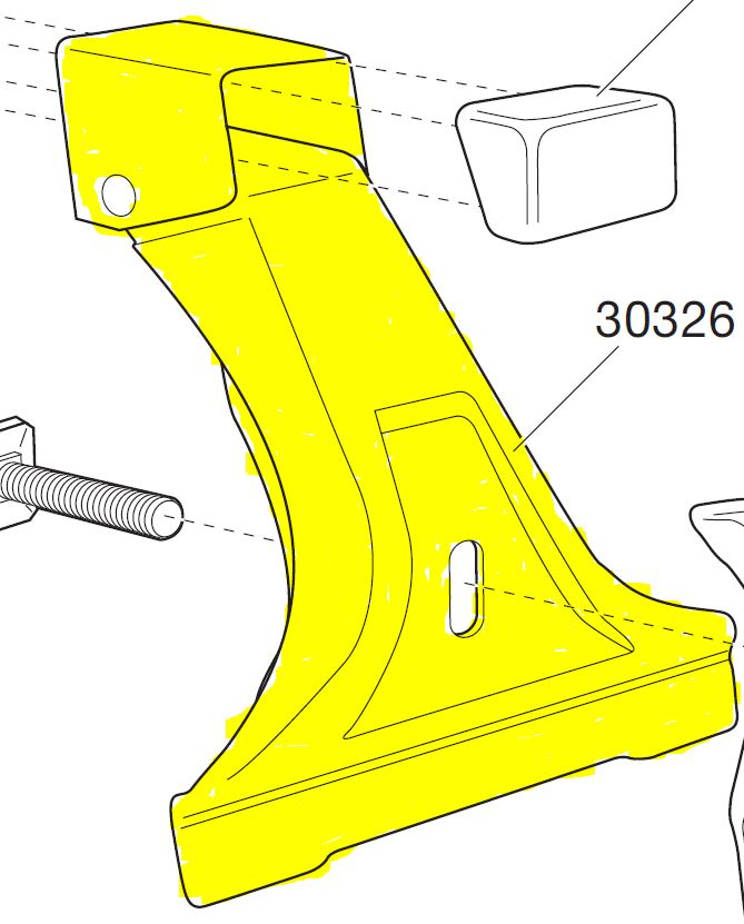 Thule Spare Part 30326 - tbv. Foot Pack 951/955