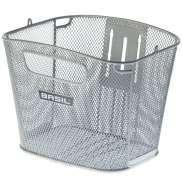 Basil Bold Bicycle Basket Fine Netted Fixed - Silver