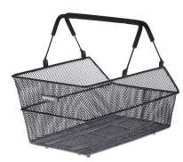 Basil Cento Bicycle Basket For Rear Steel Finely Woven Bl