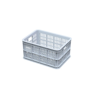 Basil Childrens Bicycle Crate 25L Plastic - Silver