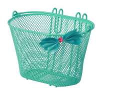 Basil Jasmin Bow Childrens Basket - Mint Green