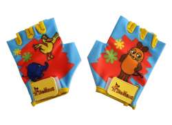 Bike Fashion Childrens Gloves The Mouse Blue/Red - Size L