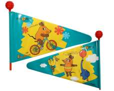 Bike Moda The Mouse Bandera De Seguridad 175cm - Amarillo/Azul