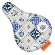 BikeCap Saddle Cover Children´S Bicycle Delft Blue Tiles