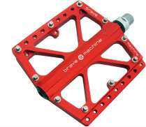 Brave Freeride Extreme Pedals Platform Aluminum - Red