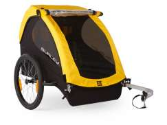 Burley Bee Childrens Bicycle Trailer 2-Children - Yellow/B