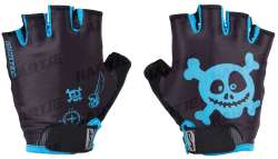 Contec Pirate Childrens Gloves Black/Neo Blue