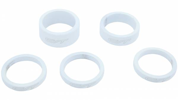 Contec Spacer Set 1 1/8 Inch 3x5/1x10/1x15mm Alu - Wit