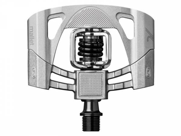 Crankbrothers Mallet 2 Raw Pedaal QF 52mm - Zilver