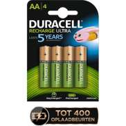 Duracell AA LR06 Batteries 1.2S 2500mAh Rechargeable - (4)