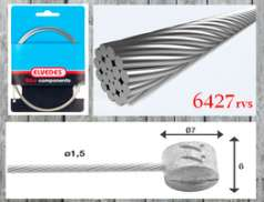 Elvedes Brake Cable 6427 Inox 2,25M Barrel Nipple