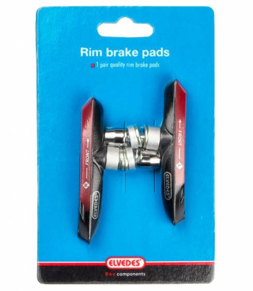 Bicycle Brake Shoes By elvedes 55 mm for Shimano and carbonfelgen Brake Shoes