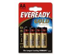 Eveready Ouro LR06 AA Baterias (4)