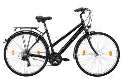 "Excelsior Road Cruiser 21 Alu ND Trapeze 28"" 46cm 21S - Czarny"