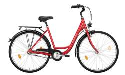 "Excelsior Road Cruiser Alu ND Trapeze 26"" 43cm 3S Ph - Czerwony"