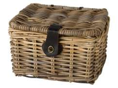 FastRider Bicycle Basket Junior with Lid - Rattan 8L
