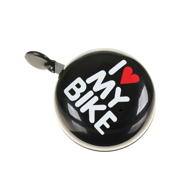 HBS Bicycle Bell Ding Dong I Love My Bike Black | Bells