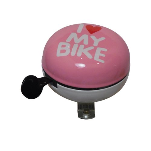 HBS Bicycle Bell I Love My Bike Ding Dong Ø60mm - Pink/White | Bells