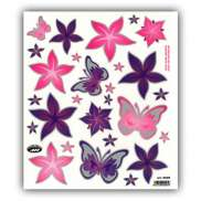 HBS Bicycle Sticker Butterfly And Flowers Purple/Pink