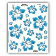 HBS Bicycle Sticker Hawaii Flowers Blue