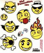 HBS Bicycle Sticker Smileys- Red/Yellow/Black