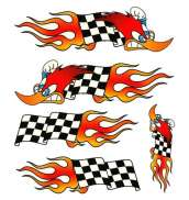 HBS Bicycle Sticker Woodpecker Flag- Red/Yellow