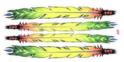 HBS Cykel Dekal Feathers - Multi Color